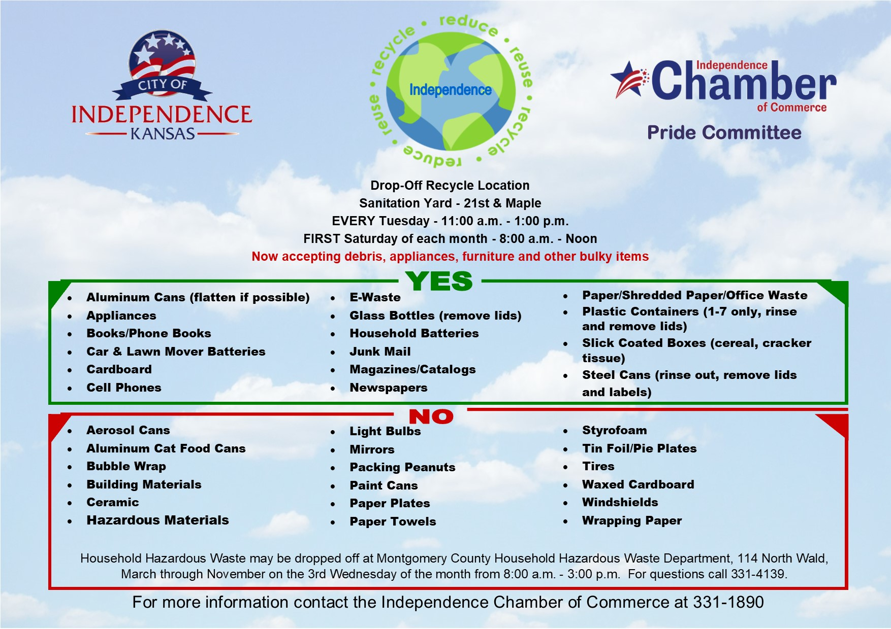 Recycling Flyer Updated 020420